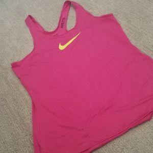 Nike Pro DRI-FIT tank top sz XL pink